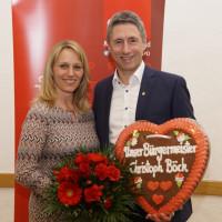 Bürgermeister Christoph Böck mit Frau Petra Böck